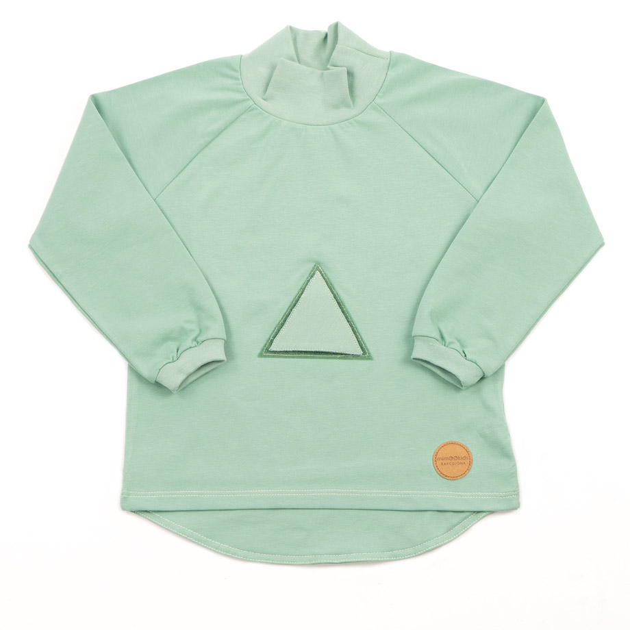MIMOOKIDS TURTLE NECK PLAY-WITH-ME SHIRT APPLE (4)