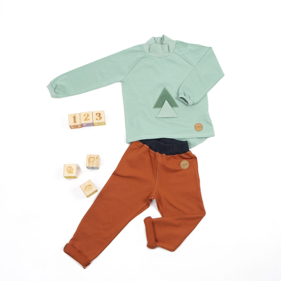 MIMOOKIDS TURTLE NECK PLAY-WITH-ME SHIRT APPLE (6)